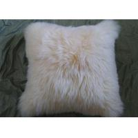 Buy cheap Single Sided Sheep Fur Dining Room Chair CushionsMoisture Proof With Long Hair from wholesalers
