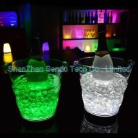 Buy cheap 5L transparent LED ice bucket from wholesalers