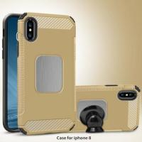 Buy cheap TPU PC phone cases for iphone x with magnetic stickers, Car bracket phone cases for iphone x from wholesalers
