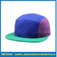 China factory customized blank 5 panel strap back hat small order on sale