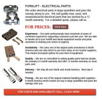Wholesale Electrical Parts for Forklifts from china suppliers