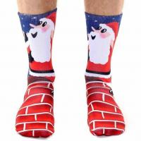 Buy cheap Custom Made Socks With Santa Claus Pictures from wholesalers