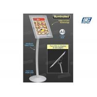 Wholesale A3 Poster Display Stands , Illuminated LED Poster Frame StandBevel Display from china suppliers