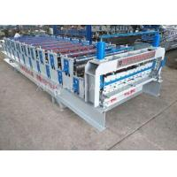 White Color Smart Double Layer Roll Forming Machine For Corrugated Tile