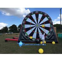 China New type inflatable foot darts game inflatable soccer kick dart board with magic tape wholesale