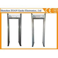 Wholesale Security Walk Through Gate Metal Detector Body Scanner , Hospital Metal Detectors 6 Zones from china suppliers