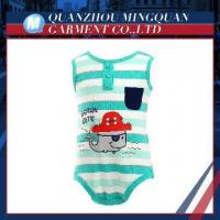 cute breathable stripe boy newborn baby cotton clothes