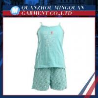 cute girls sleeveless shirt and shorts high quality child clothes set