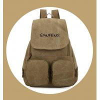 China Popular Waxed Canvas Backpack for Girls, Fashionable Casual Gear Backpack Factory Price wholesale
