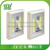 China Promotion Magnetic Velcro Plastic 6W COB LED Wall Switch Light with CE RoHS BSCI wholesale