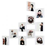 4 Inch White Personalized Creative Gift Frame for Photo Wall Ten Piece Sets with Nail