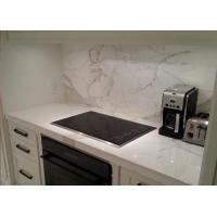 China White Kitchen Marble Countertops And Backsplash , Huge Marble Tile Countertops wholesale