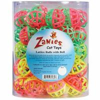China Zanies Plastic Lattice Balls Cat Toy Canister, 50-Pack wholesale