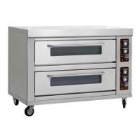 China Commercial 2 deck 4 trays gas pizza oven wholesale