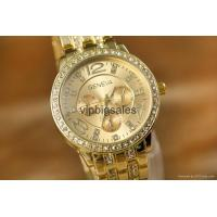 China Wholesale Price Geneva Watch Wrap Quartz Crystal Watch Rose Gold Color Casual wholesale