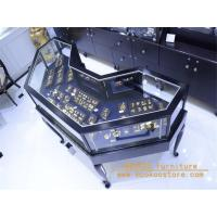 Wholesale Je026 Black metal glass jewelry display showcase from china suppliers