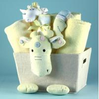 Wholesale Unique Baby Gifts Plush Giraffe Baby Shower Gift Basket from china suppliers
