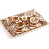 Aapno Rajasthan Stoneware Decorative Platter (Multicolor, Pack of 6)