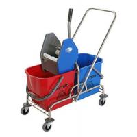 China DOUBLE MOP WRINGER TROLLEY BUCKET wholesale
