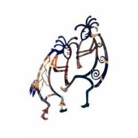Wholesale Kokopelli Fire Dance Metal Wall Sculpture from china suppliers