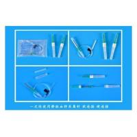 Venous blood collection needlefor single use flexible coupling hard wired
