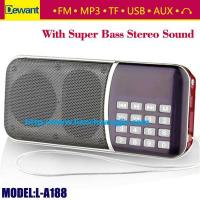 Buy cheap Dewant L-A188AM portable mini MP3 player AM FM radio speaker from wholesalers