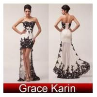 High-Low design full length evening gown CL6044
