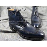 China CIEB37 - Royalblue Leather Men's Oxford Boots GOODYEAR CRAFT wholesale