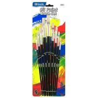 Buy cheap Arts & Crafts BAZIC Asst. Size Oil Paint Brush Set (9/Pack) $ 3.99 from wholesalers