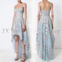 floral embroidered high-low dress JX20170029D
