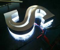 Factory 3D stainless steel LED alphabet letter door sign customized