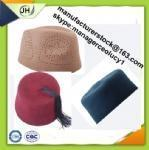 China hat wool felt embroidery muslim cap Product No.:JH-H01 wholesale