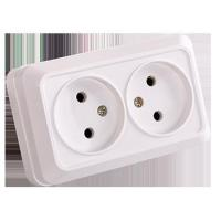 China Surface switch and socket SW15-double socket wholesale