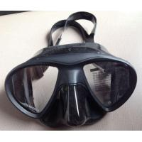 China Top Quality Good Looking Silicone Black Low Volume Diving Mask with Wide Vision for Free Diving wholesale