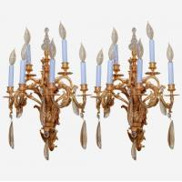 Buy cheap Pair of large Louis XVI style gilt bronze wall lights Stock Number: L212 from wholesalers