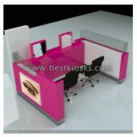 China One side two chairs eyebrow threading kiosk wholesale