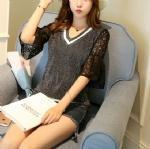 China Cashmere Sweater Lace sleeve Pullover 1706238 wholesale
