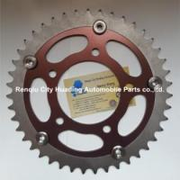 China 7075 T6 aluminum sprockets with steel teeth for racing motor on sale