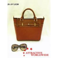 China PU Leather Ladies Tote Bags with Hand Knitted Pattern wholesale