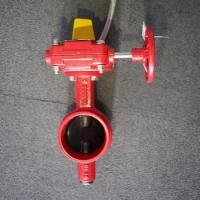 Buy cheap FM approved UL listed Wafer Butterfly Valve with signal Switch Gearbox from wholesalers