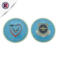China Military Air Force Metal Silver Challenge Coin on sale