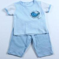 Buy cheap Pajamas Lovely Blue Striped Summer Baby Boys Cotton Pajamas from wholesalers