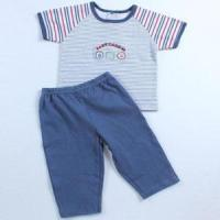 Buy cheap Pajamas 2015 Lovely Striped 100% Cotton Baby Boy Pajamas from wholesalers