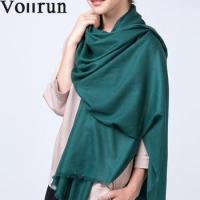 Buy cheap Water Soluble Twill Pashmina Shawl Wool 300s Extrafine 200*90cm from wholesalers
