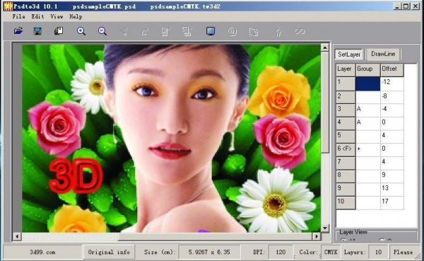 China PSDTO3D Advanced version 3d lenticular software