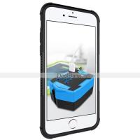 Buy cheap Mobile Phone TPU + PC Hard Back Cover Hybrid Case For iPhone 7 Armor Kickstand Case Black from wholesalers