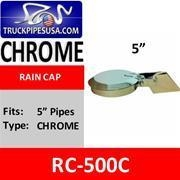 China Rain Caps 5'' Exhaust Rain Cap Chrome Plated RC-500C
