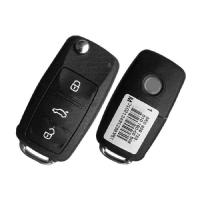 5K0 837 202 AA flip remote key 433MHz for VOLKSWAGAN Smart System 3button
