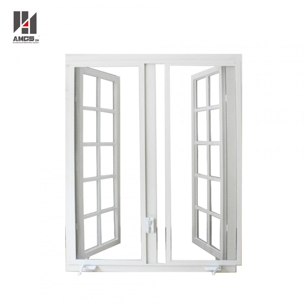 China American Grille Design Casement Aluminium Crank Windows With Tempered Glass on sale