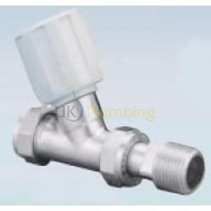 Quality Heating Controls Pegler Terrier C/P Manual Radiator Valve Wheelhead Straight 15mm for sale